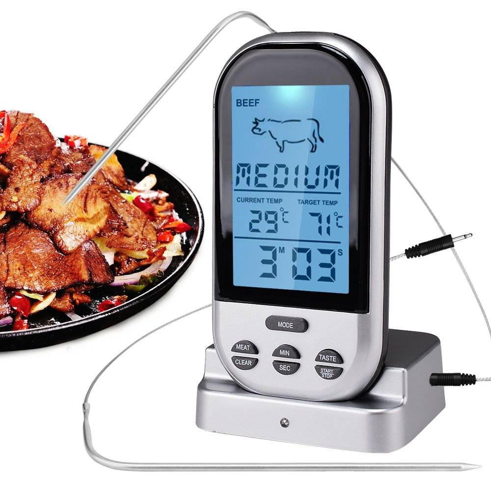 Wireless Digital Thermomrter Food Cooking Kitchen Thermometer