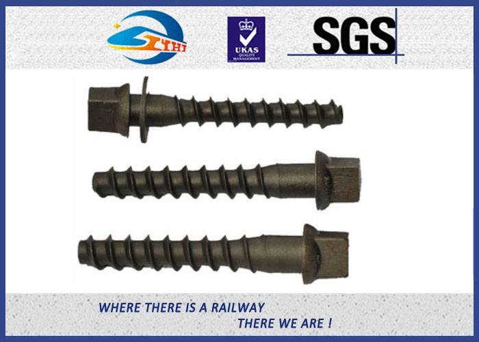 ZhongYue Custom Railroad Screw Spikes Q235 Concrete Sleepers Grade 5.6