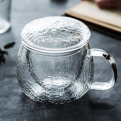 Double wall high borosilicate glass tea&coffee mug