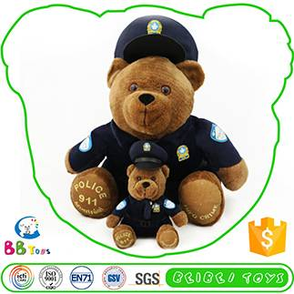 two sizes of police bear