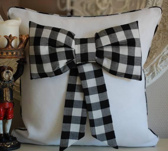 Bow tie decoration linen pillows