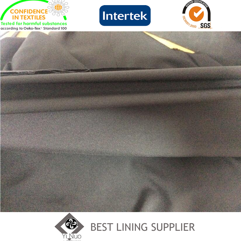 Mechanical Stretch Lining in 100% Pes Plain Stetch Lining Fabric