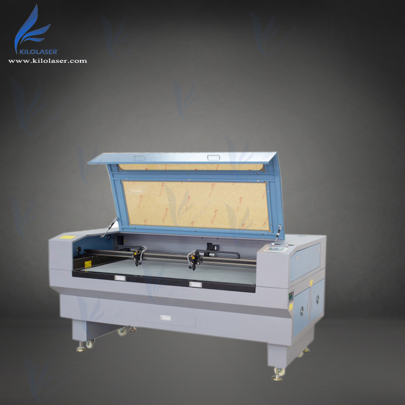 CE Approved Factory Wholesale 1610 double head Co2 fabric laser cutting machine