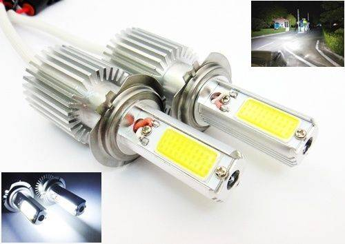 2x Super Bright 40W H7 COB LED Daytime Running Fog Light Headlight Bulb White