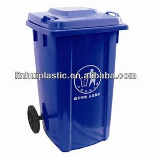 Community hygiene Plastic Dustbin with wheels for sale