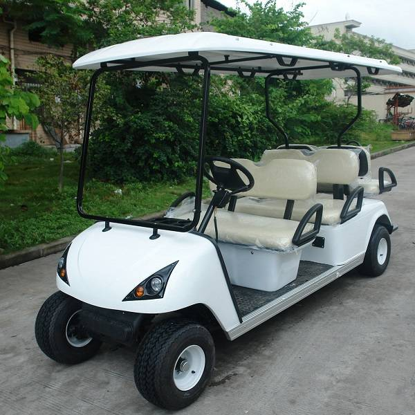 6 seater electric buggy cart with 2 rear seater