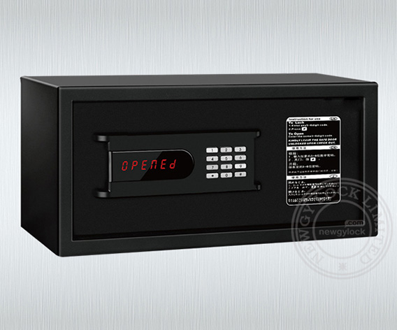 Metal electronic digital hotel in-room safe deposit box