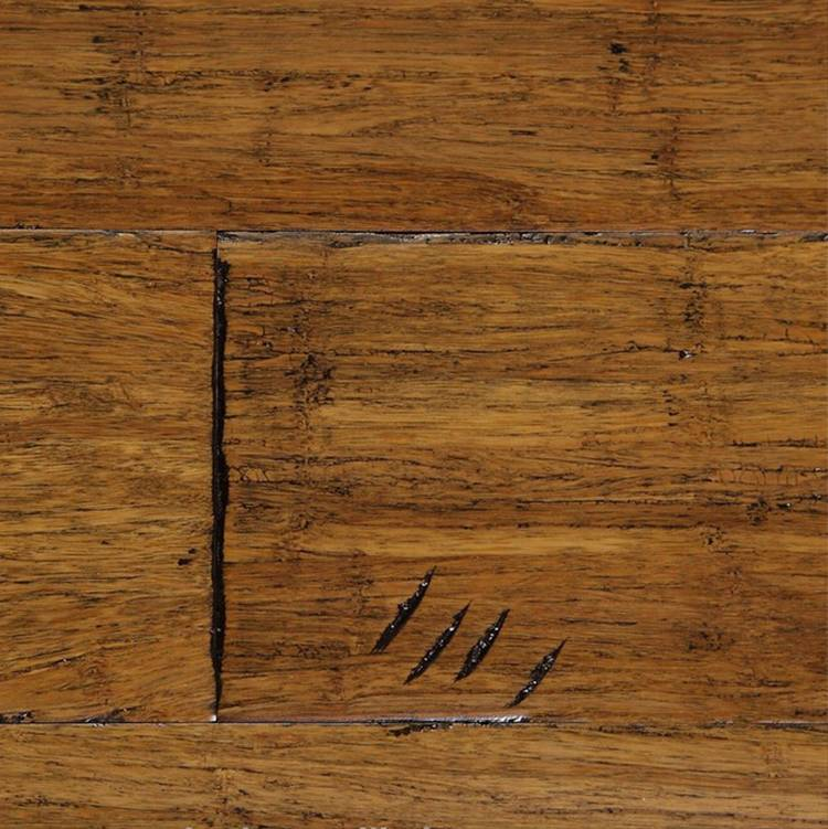 BY eco-friendly hand scraped strand woven bamboo flooring