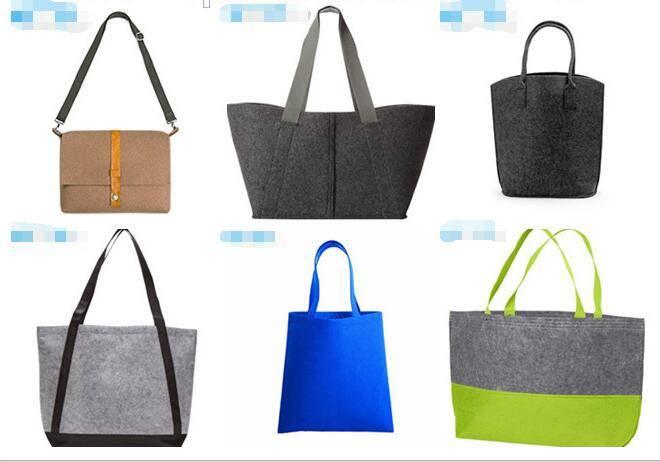 Environmentally Friendly Felt Tote Handbag Shopping Hand Bag