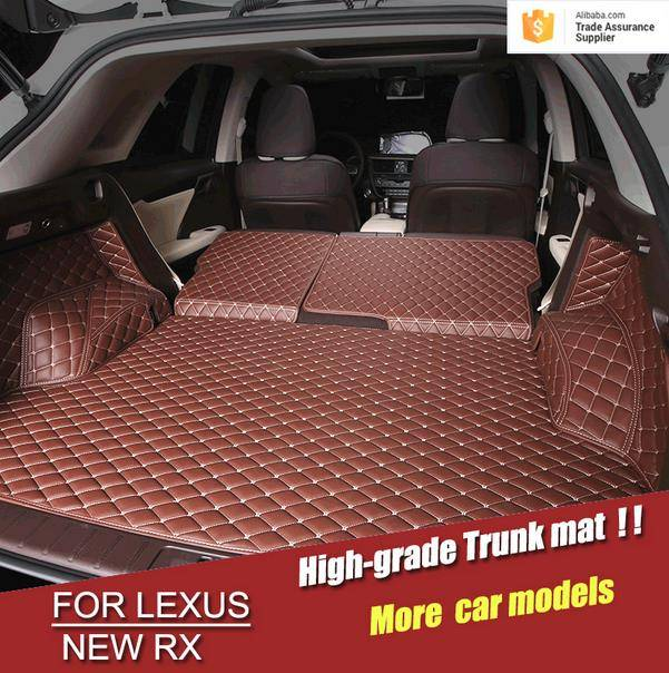 newest Version PU Leather Trunk Floor Mat For LEXUS RX 2016 Interior Trunk Floor Pad Carpet Mat