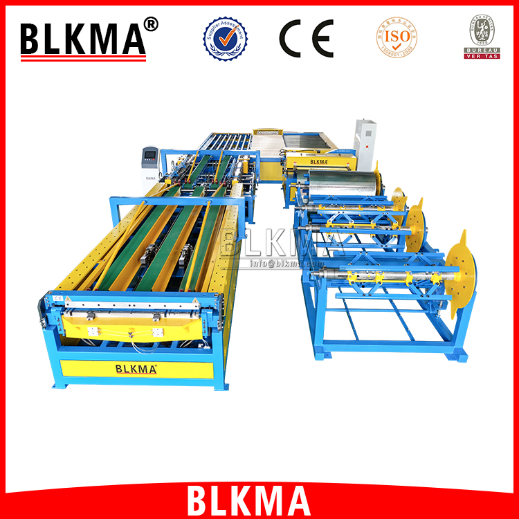 BLKMA Air conditioning HVAC auto tube forming machine / sqaure duct manufacturing auto line 5
