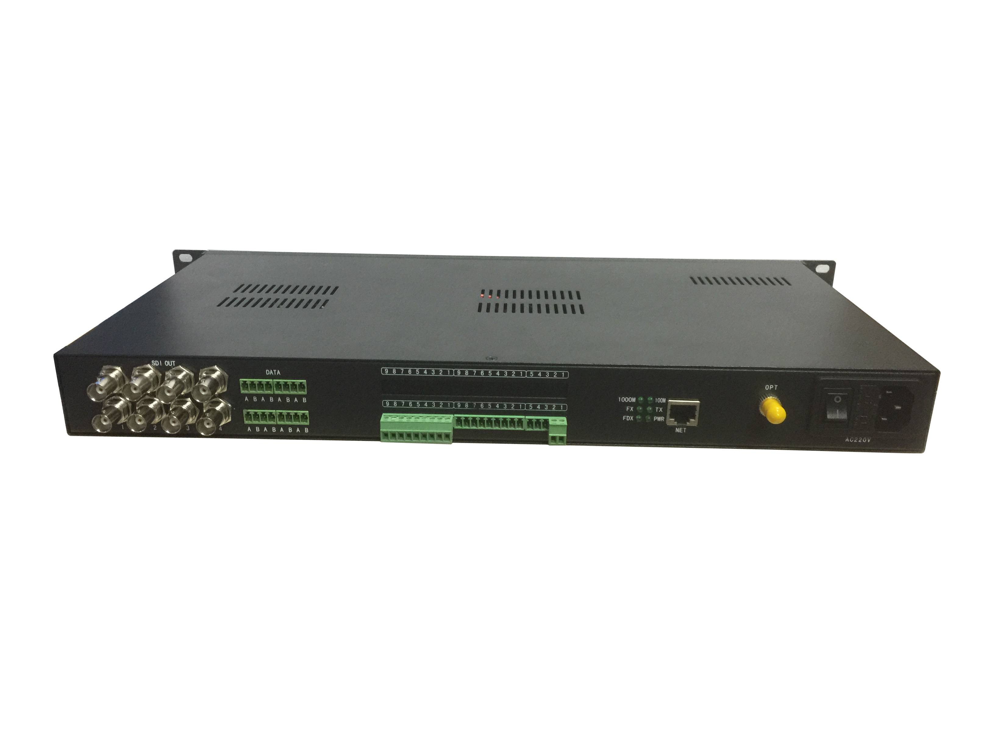 3G SDI fiber optic extender with data, audio, Ethernet