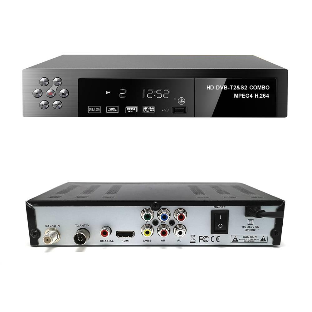Sell FTA best satellite reciever combo t2+s2 set top box