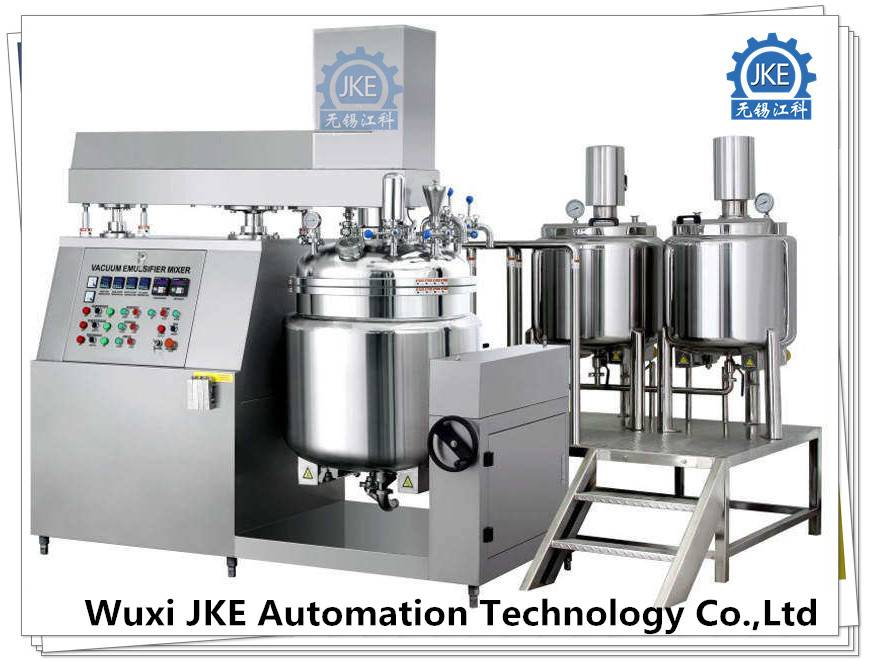 PLC Touch Screen Industrial Mixer Vacuum Emulsifier for Cosmetic Mixing