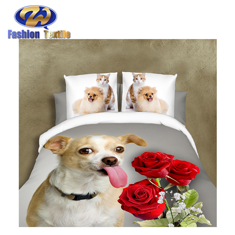 Superior quality custom 3d bedding set comforters microfiber bed cover fabric