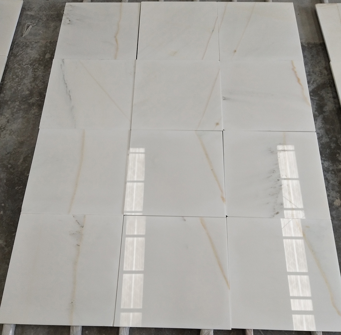Natural White Marble Tiles Customized