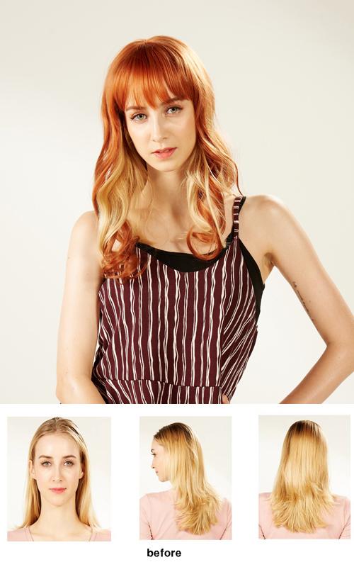 EYESHA fusion fashion wig 805A (Orange mix - natural wave style)
