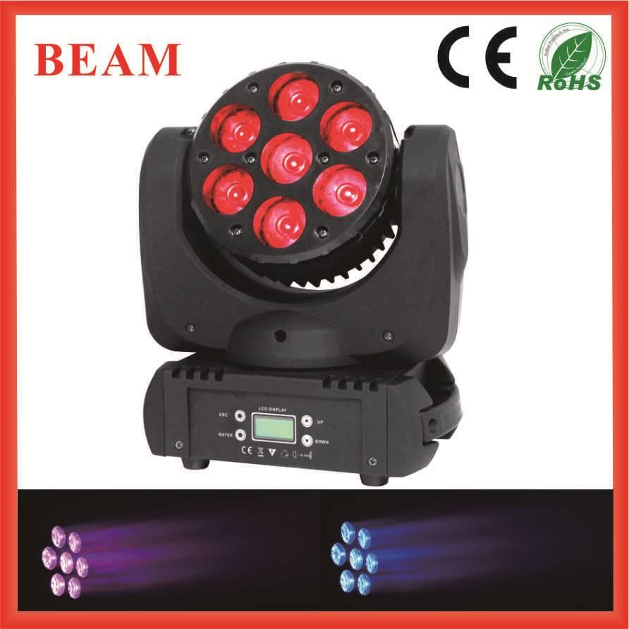 Led Beam/ 7pcs 10w LED Moving Head