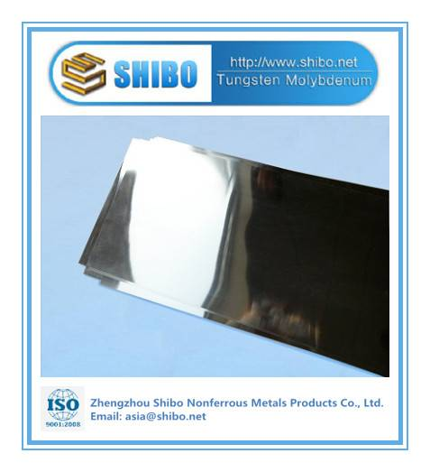 Factory Supply of High Purity 99.95% Mo Sheet