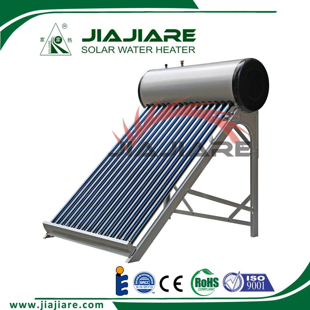 2016 hot sale low pressurized solar water heater 80L to 420L