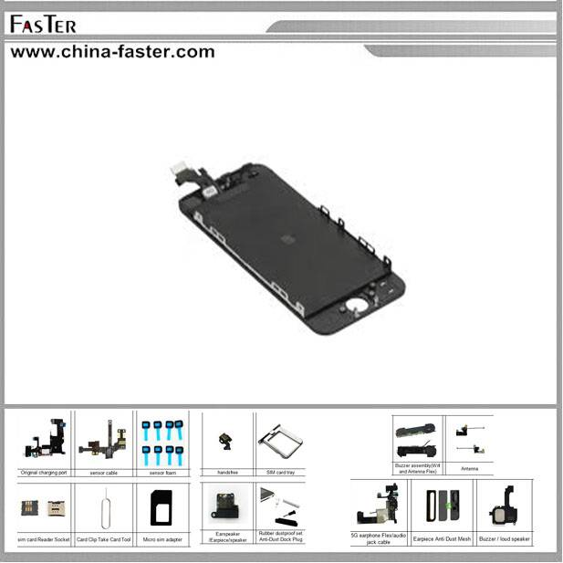 Lowest Price!! Original LCD For iPhone 5,for iphone 5 color lcd screen,for iphone 5 screen