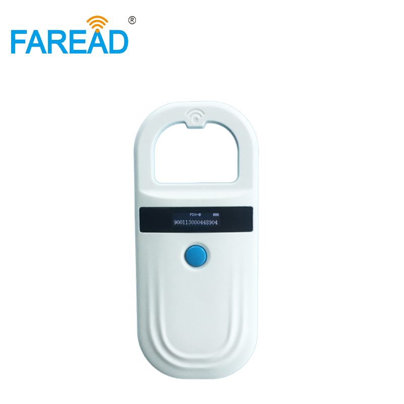 134.2 khz ISO FDX-B pocket rfid reader microchip dog scanner for pet vet animal shelter