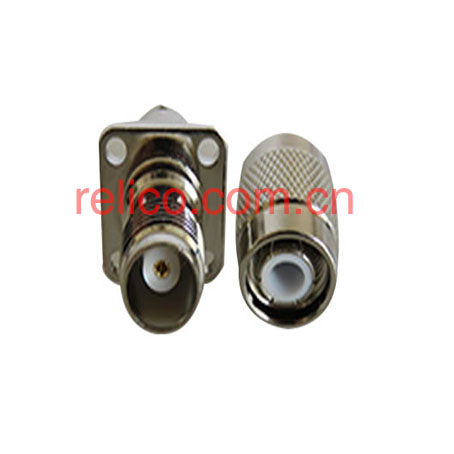 TNC series RF coaxial connectors screwed coupling brass shell nickel-plating