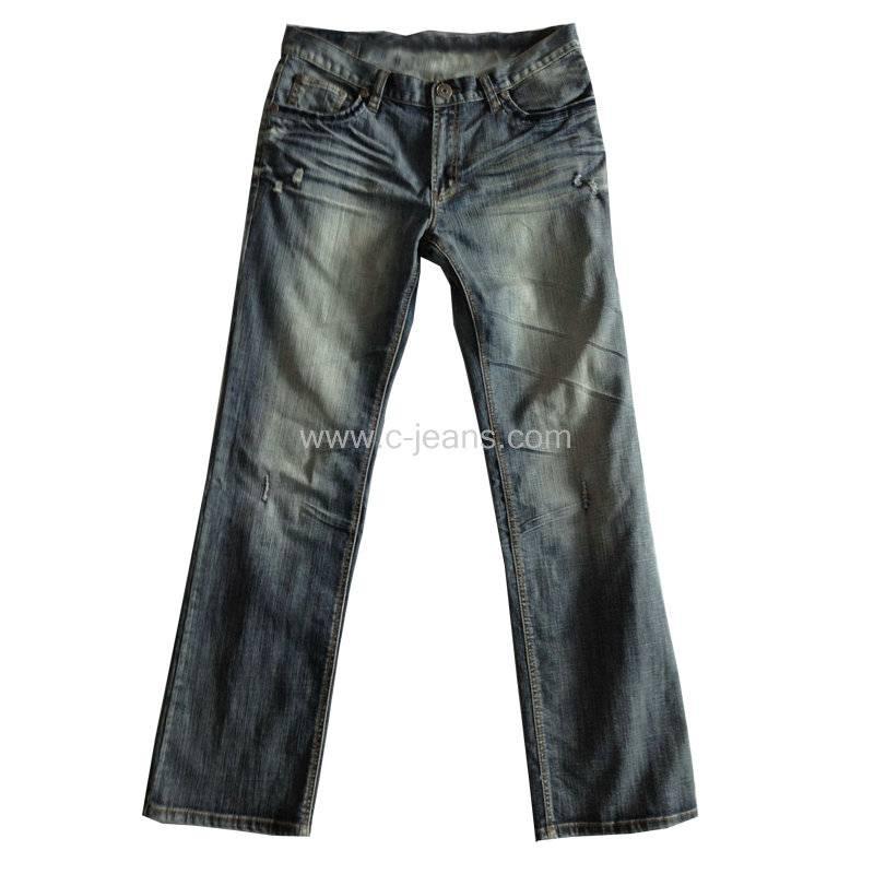Classical Men's Denim Straight 5 Pockets Jeans