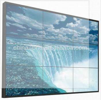 Ultra narrow bezel 46 inch super narrow bezel LCD video wall with original Samsung screen, brightnes