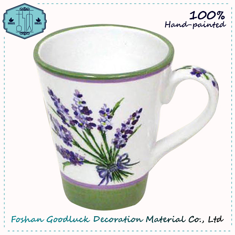 Hand Painted Provence Lavender Eco Reusable Ceramic Mug