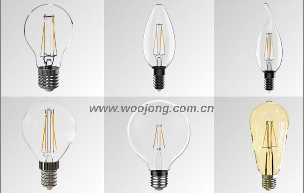 UL G25 5.5W E26 LED filament bulb light Philips and Osram