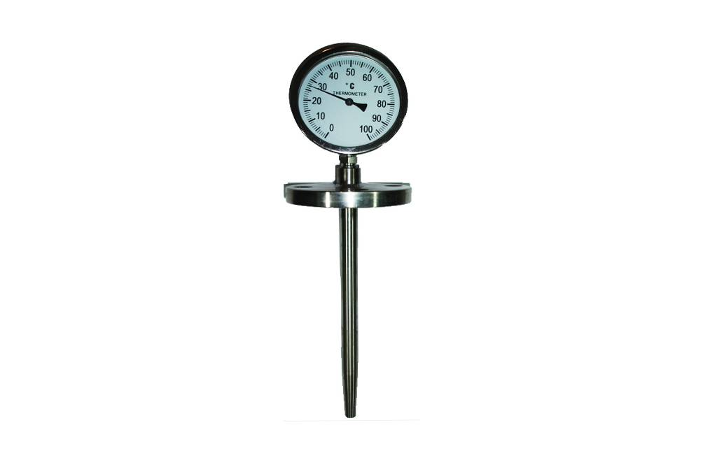 Dial Thermometer Thermocouple/RTD with Flanged Thermowell