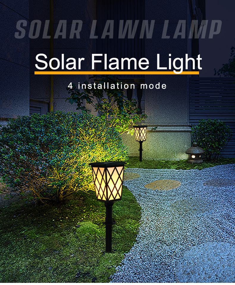 solar garden flame light N260