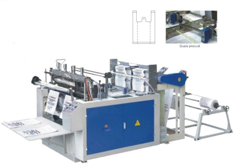 DFR Computer Heat sealing and Heat cutting bag making machine( Two lines)