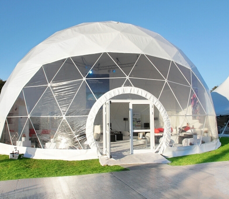 outdoor thermo roof dome tent for camping trip, hemispherical frame tent for outdoor events
