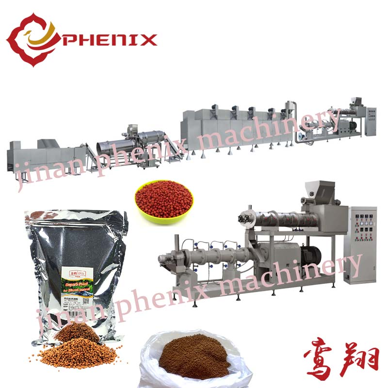 floating fish feed pellet extrusion machine processing line