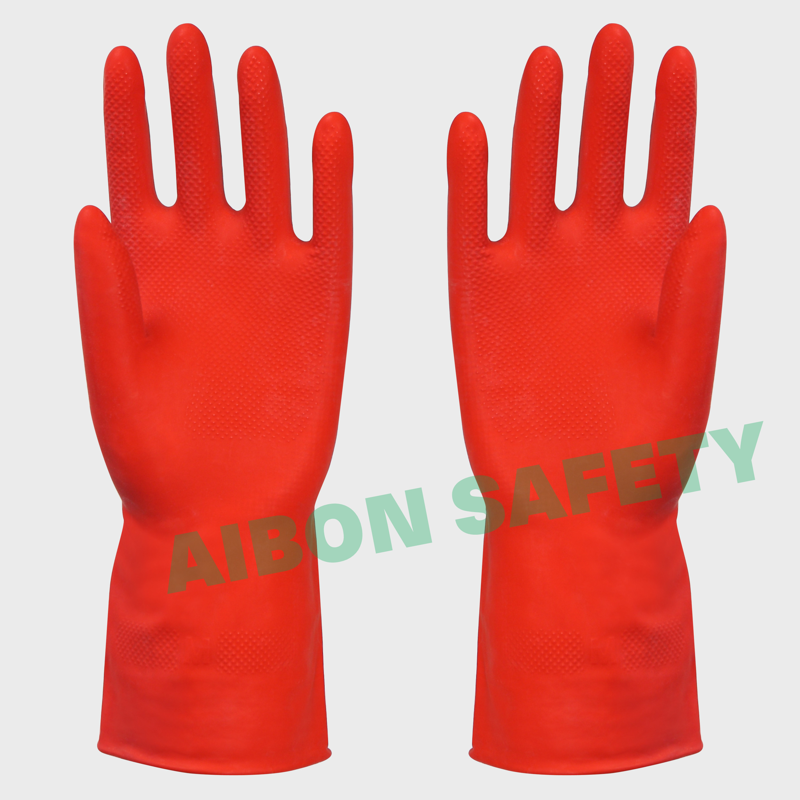 heave duty latex rubber glove