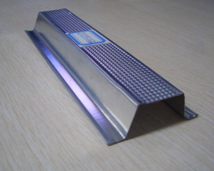 Zinc coated steel profiles for drywall