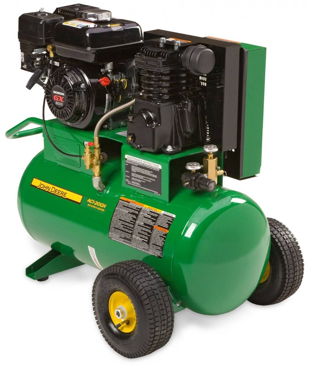 John Deere Air Compressor >> John Deere Ac1 20gh 20gal Portable Gasoline Air Compressor John
