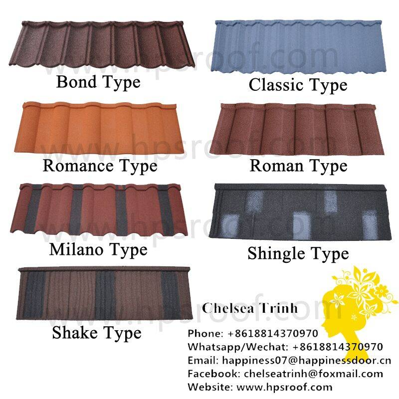 Building material discount sand coated metal roof tiles
