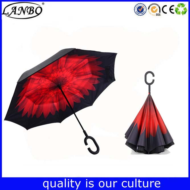 Top Quality 23 Inch Special Design Upside Down Magic Inverted Umbrella