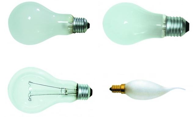 Incandescent bulb 25W-200W