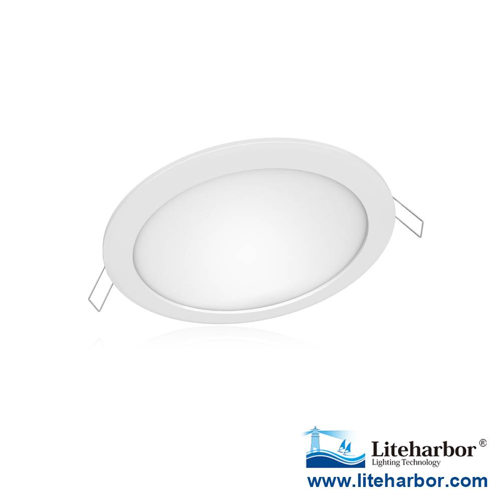 "Liteharbor Lighting 6"" Super-thin Round LED Recessed Panel Light"