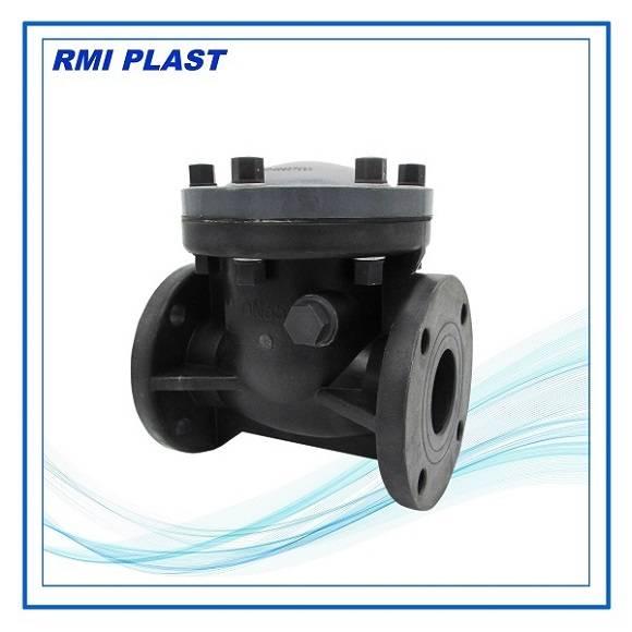 PVC, CPVC, PVDF, PPH swing check valve flange ANSI, DIN, JIS