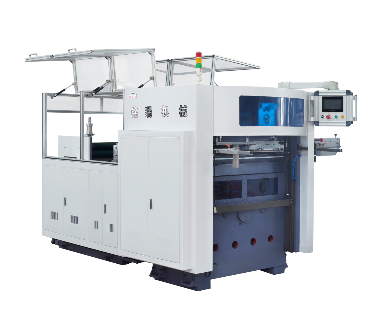 Automatic PLC Control Paper Roll Feeds Die Cutting And Creasing Machine