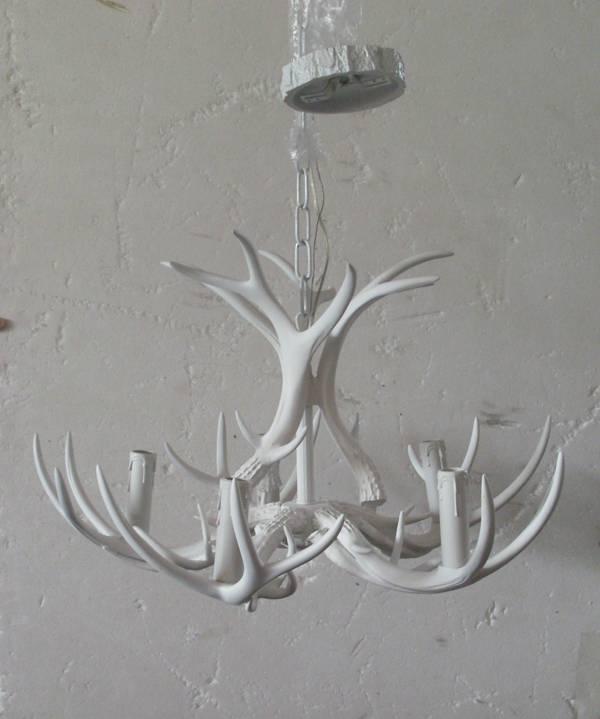 new whitetail deer antler chandelier light 5 antlers 5 lights