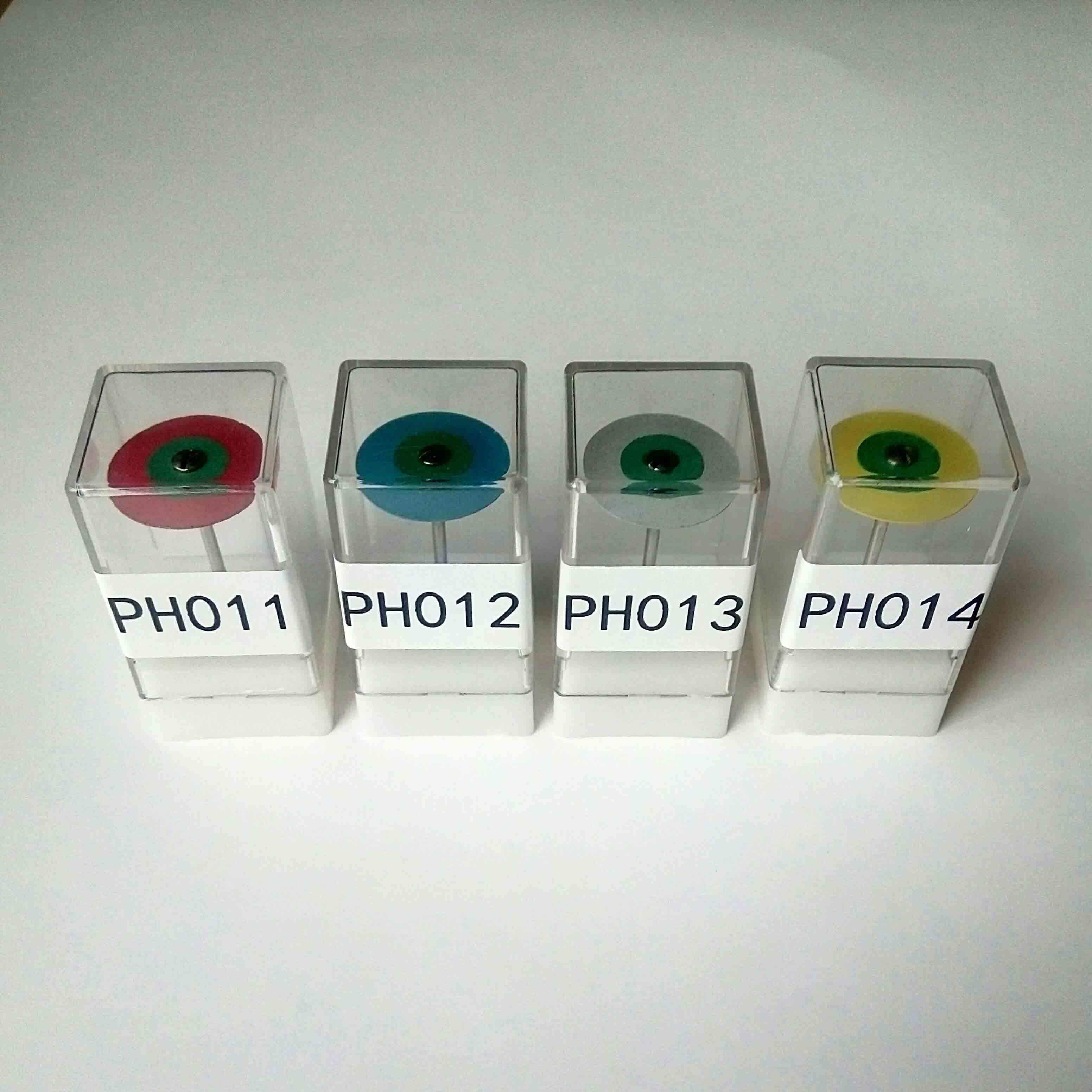 Dental Diamond Filled Rubber Poliser (twin colors, 25mm0.7mm)(Coarse ,medium ,fine)