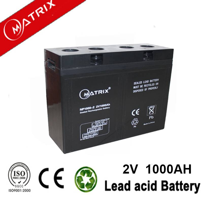 Valve Regulated Lead Acid Battery 2V 1000Ah for solar system