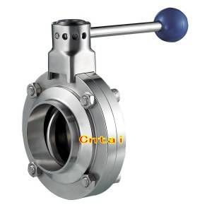 Sanitary stainless steel buttefly valve