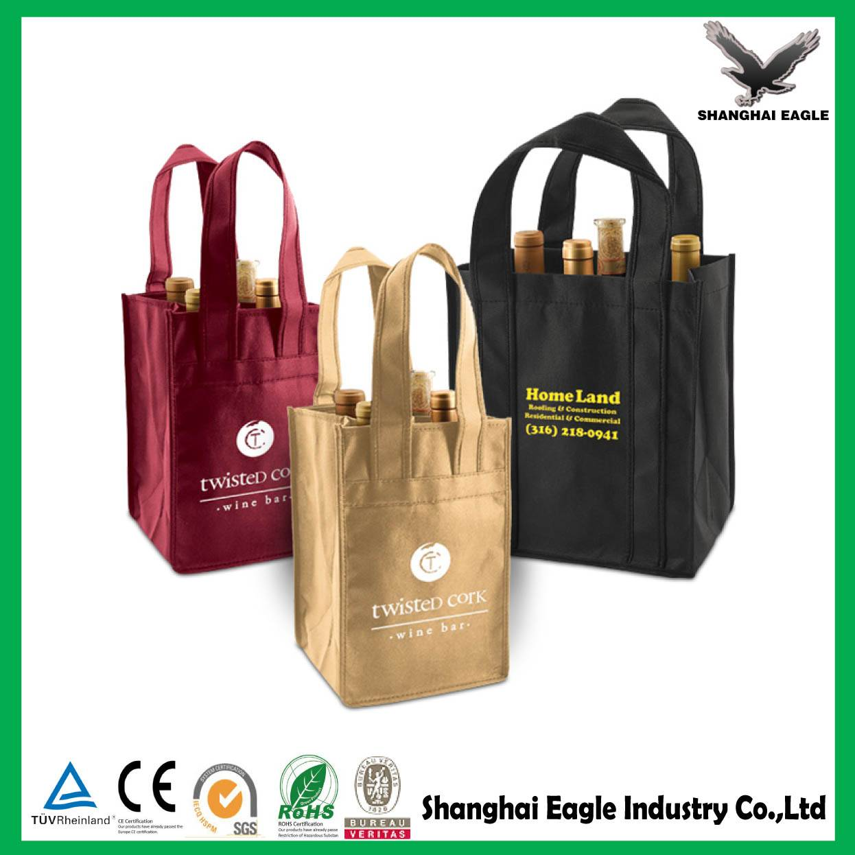 Custom Promotional metallic non woven bag